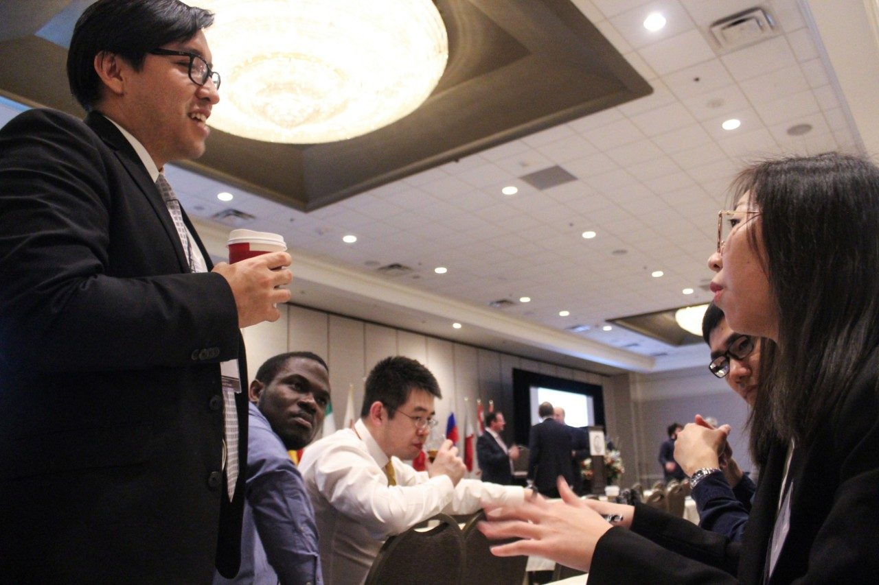 Students discuss trade issues at 2019 Governor's conference
