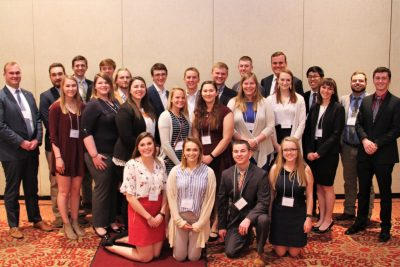 AAEC scholarship recipients stand together for a photo.