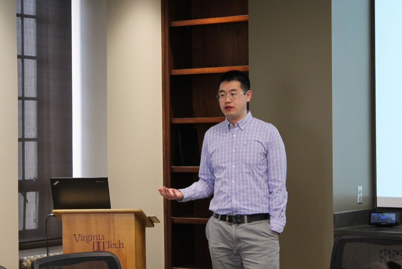 International Trade Ph.D. student Chaoping presents research findings